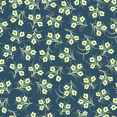 Seamless floral pattern in retro style Stock Vector - 11660147