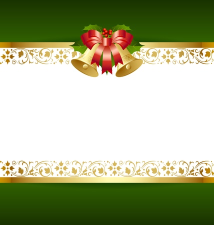 old fashioned: Stylized Christmas card template with decoration Illustration