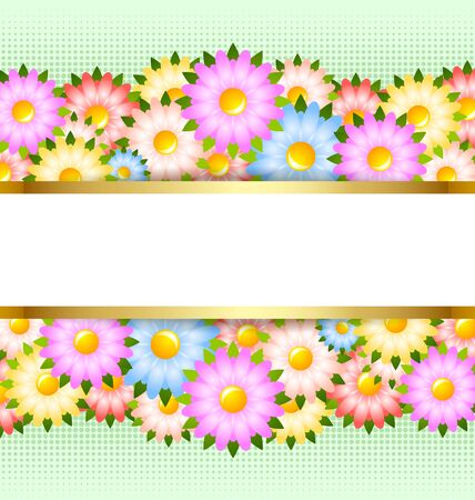 with space for text: Flower card template with copy space for your custom text