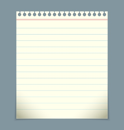 Blank linked notepad paper sheet Vector