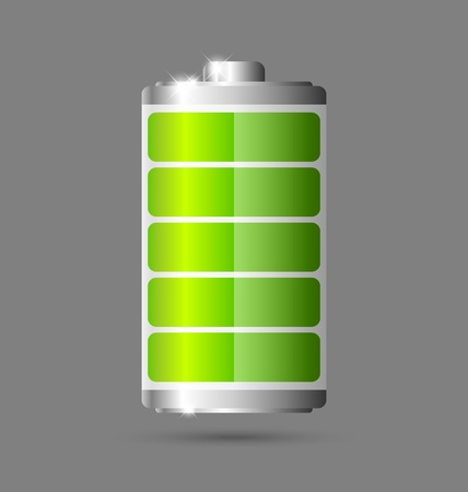 Fully charged green battery icon Stock Vector - 12925416
