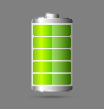 recarga: Icono de bater�a completamente cargada verde
