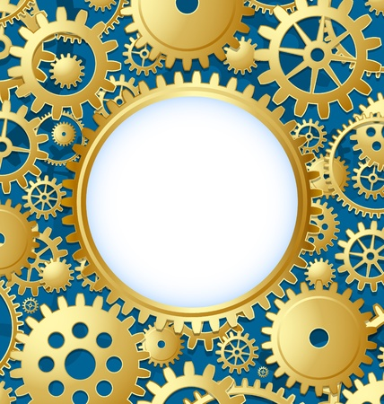 Cogwheel gear document template with copy space for your custom text Stock Vector - 12925424