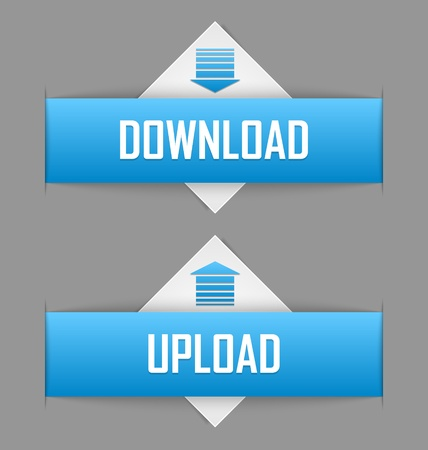 Download and upload buttons useful for webdesign purposes Vector