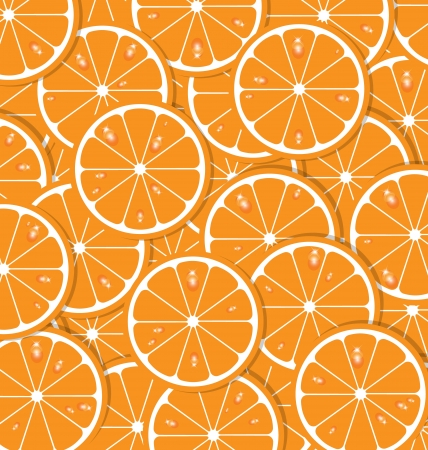 Orange slices with juice document background Vector