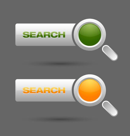 Search buttons isolated on grey background Vector