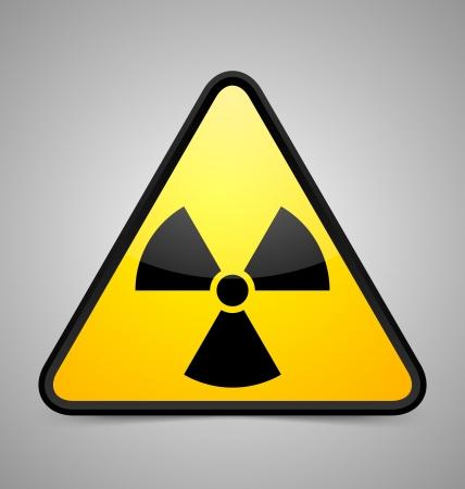nuclear symbol: Nuclear s�mbolo aislado sobre fondo gris
