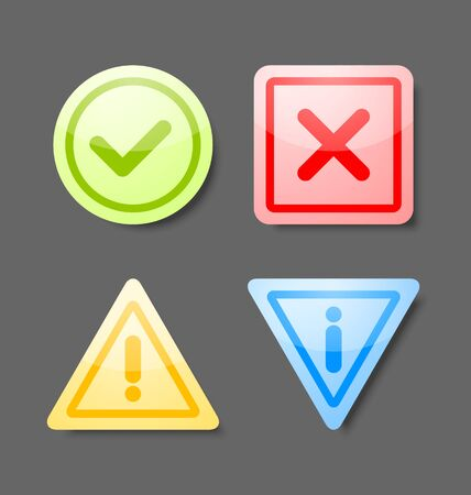 okey: Notification icons suitable for custom web design and computer purposes