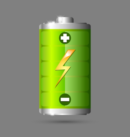 Fully charged green battery icon