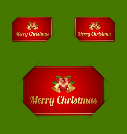 inserted: Merry Christmas paper cards inserted into another piece of paper