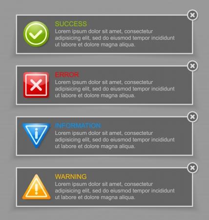 no pase: Notificación adecuados para el diseño web personalizado y con fines informáticos banners