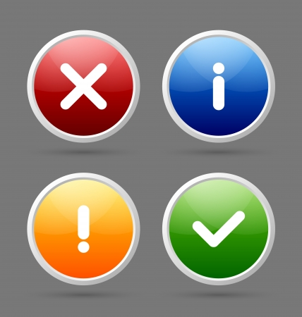 Notification icons suitable for custom web design and computer purposes Stock Vector - 16135555