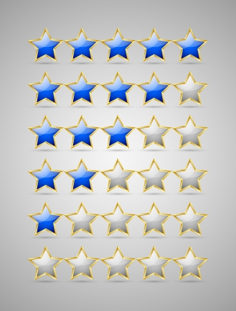 appraisal: Set of rating stars isolated on grey background Illustration