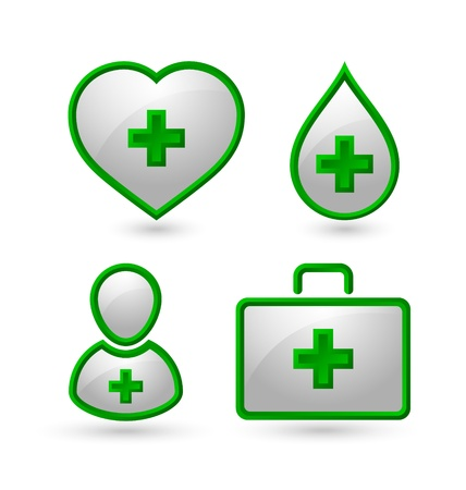 Set of medical icons isolated on white background Stock Vector - 16255298