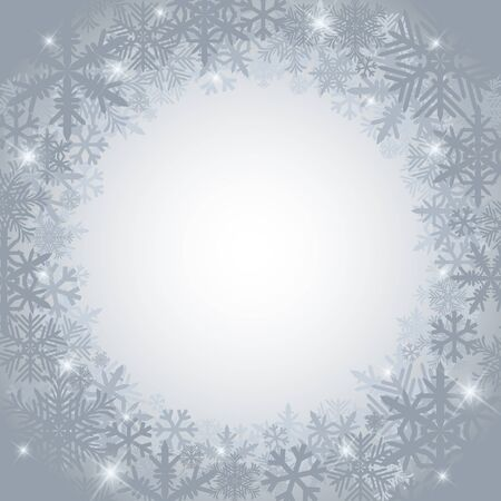 Frosty winter background with snowflakes Stock Vector - 16426137