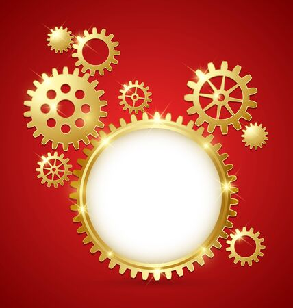 Cogwheel gear document template with copy space for your custom text Vector