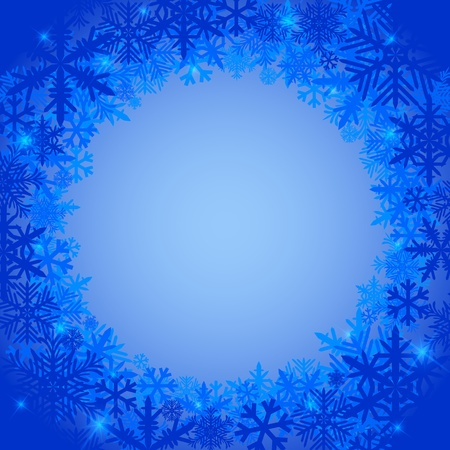 Frosty winter background with snowflakes Stock Vector - 17222229