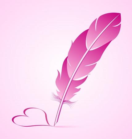 pluma de escribir antigua: San Valent�n Vectores
