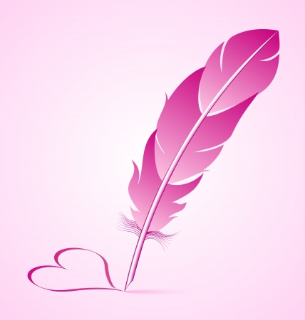 writing instrument: Valentine Illustration