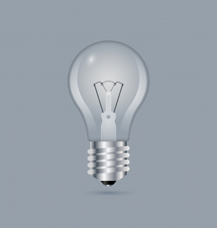 bluish: Simple light bulb icon isolated on bluish grey background