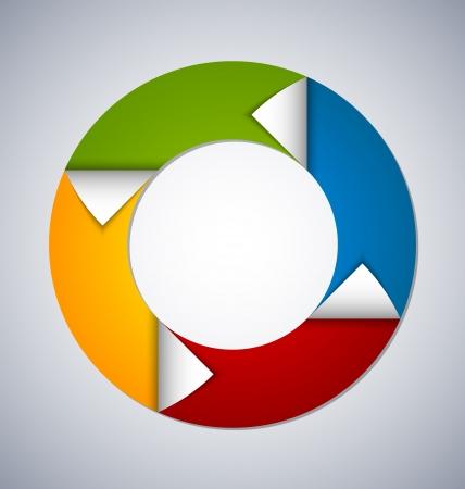 Cirkel element met gebogen hoeken geschikt voor aangepaste webdesign Stock Illustratie