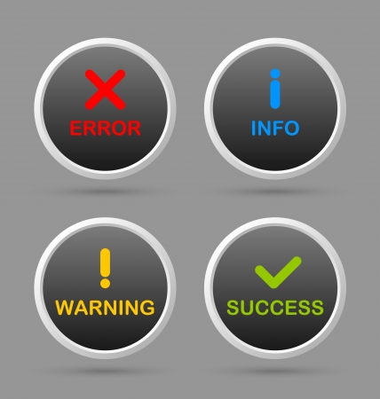 Notification icons suitable for custom web design and computer purposes Stock Vector - 18296271
