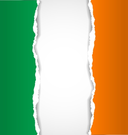 Irish flag background made of torn papers Stock Vector - 20027661
