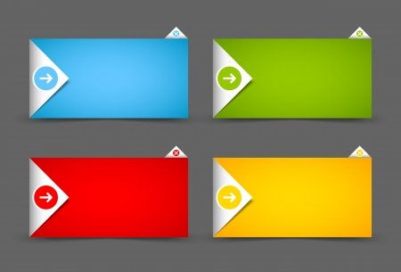 Origami style notification window or paper background document template Vector
