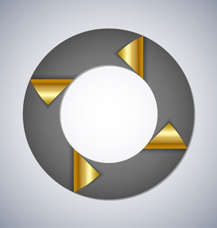 Circle element with bent corners suitable for custom web design Vector