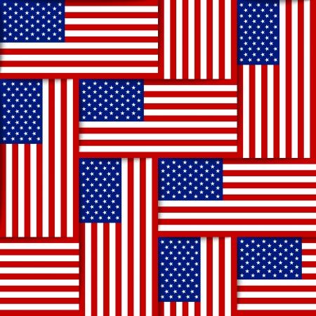 アメリカ合衆国の国旗から構成されるシームレスなパターン  イラスト・ベクター素材