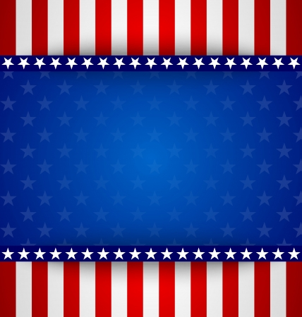 American starry background with stars and stripes Stock Vector - 21441416