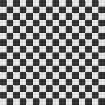 Three dimensional black and white chessboard seamless pattern Illustration
