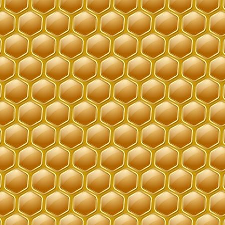 yellow ochre: Golden and glossy honeycomb pattern on yellow ochre background