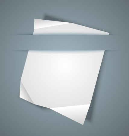 paper graphic: Blank paper sheet inserted into another piece of paper