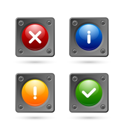 Notification icons suitable for custom web design and computer purposes Stock Vector - 21890823