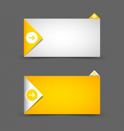 text box: Origami style notification window or paper background document template Illustration