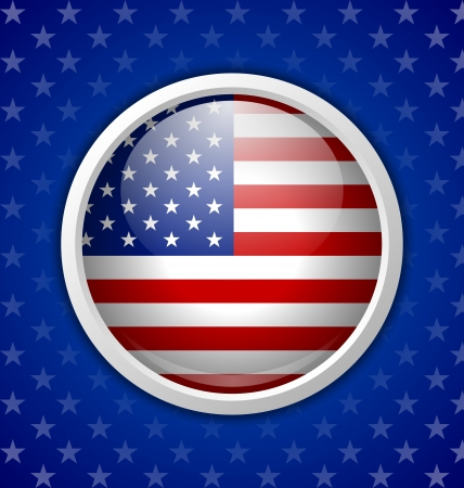 American circular badge on blue starry background Stock Vector - 21931209