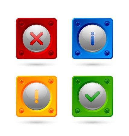 알림: Notification icons suitable for custom web design and computer purposes