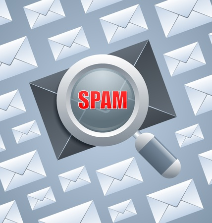 unwanted: Injurious spam message identification among normal e-mails Illustration