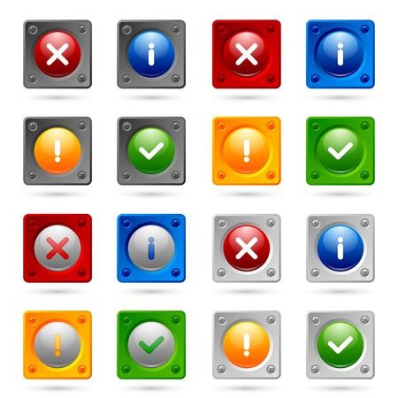 proclamation: Set of notification icons suitable for custom web design and computer purposes Illustration