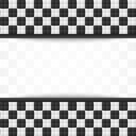 Three dimensional black and white chessboard document background template Vector