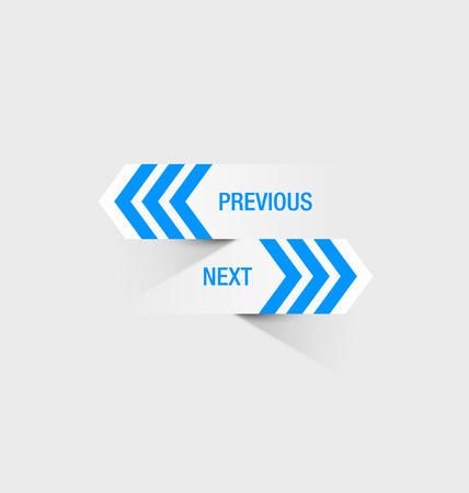 bluish: Previous and next navigation buttons suitable for custom web design or computer purposes