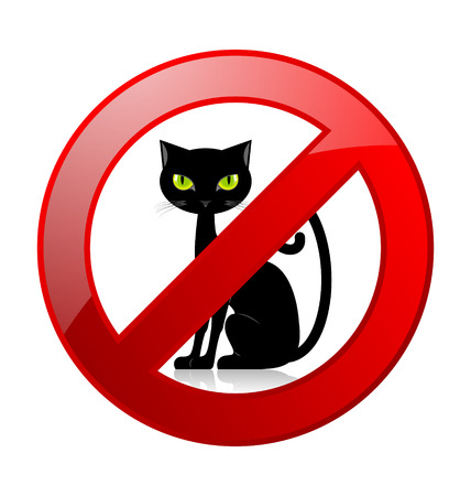 No cats allowed permission sign isolated