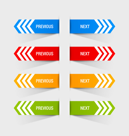 Previous and next navigation buttons suitable for custom web design or computer purposes Vector