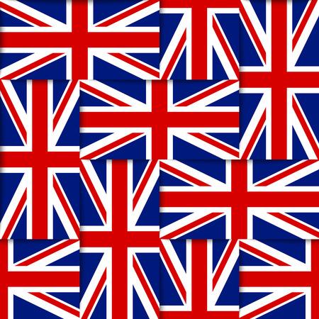Naadloos patroon samengesteld uit de nationale vlaggen van het Verenigd Koninkrijk Stockfoto - 27932770