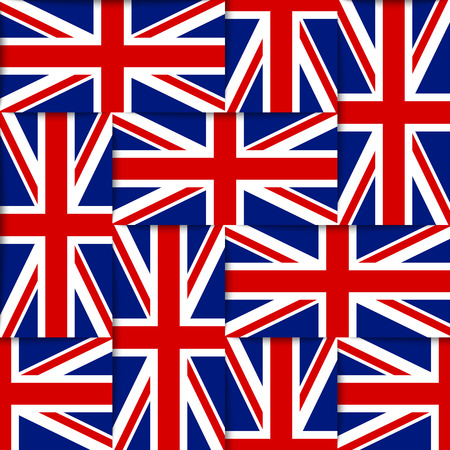Seamless pattern composed from national flags of the United Kingdom Banco de Imagens - 27932770
