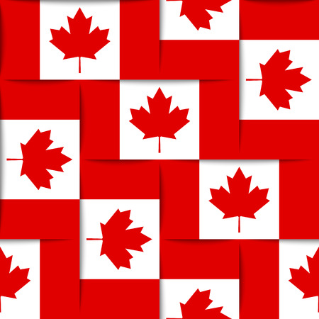 Seamless pattern composed from Canadian national flags