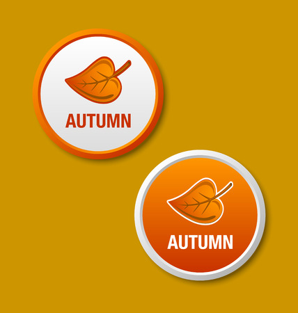 brownish: Autumn or fall icons on brownish background