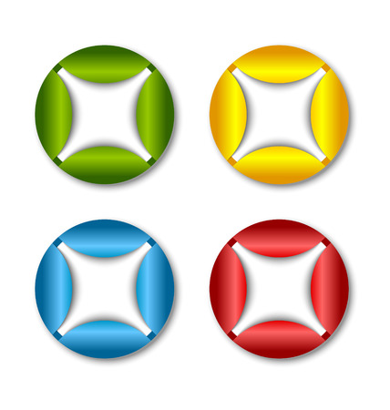 Colorful icon or button backgrounds suitable for custom design Vector
