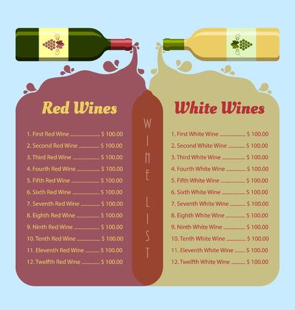 copa de vino: Plantilla de lista tapa vino en estilo retro Vectores